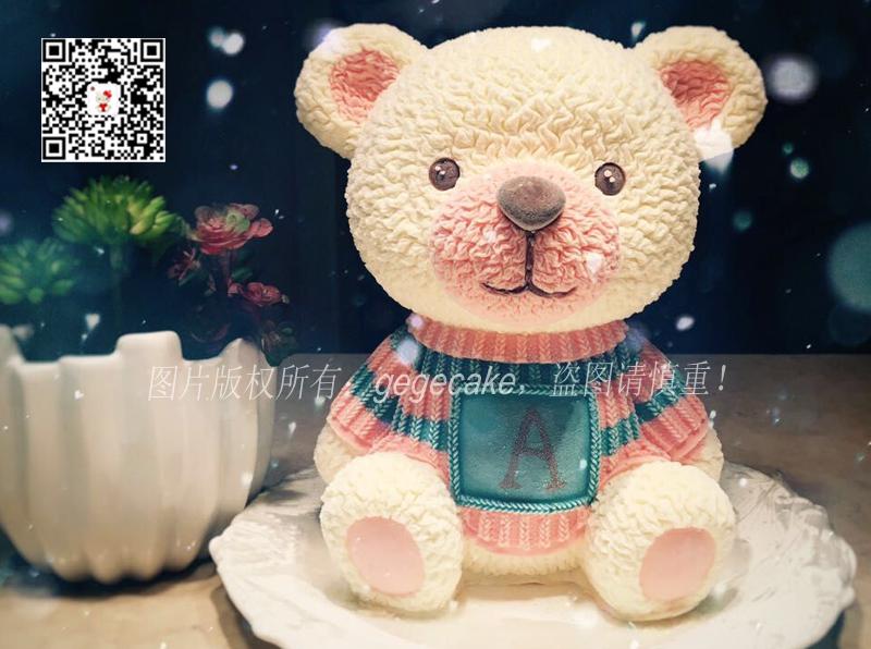 立体毛衣熊,毛衣熊芝士蛋糕
